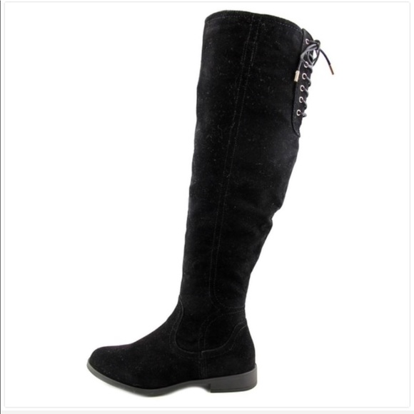 9bf65e5cd Nordstrom Shoes   New Womens Xoxo Tall Lace Back Black Boots Size 9 ...